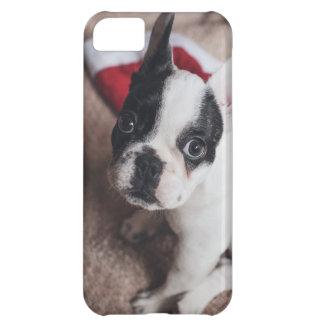 Santa claus dog -funny pug - dog claus iPhone 5C case