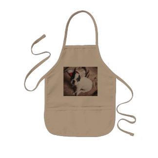 Santa claus dog -funny pug - dog claus kids apron