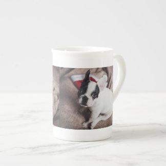 Santa claus dog -funny pug - dog claus tea cup