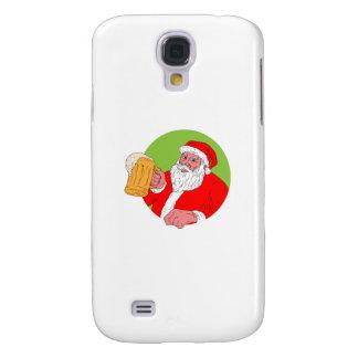 Santa Claus Drinking Beer Drawing Galaxy S4 Case