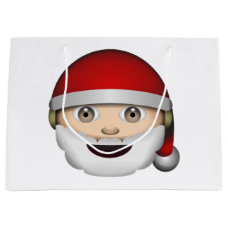 Santa Claus - Emoji Large Gift Bag
