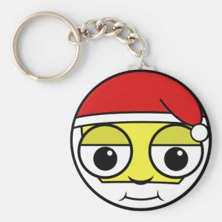 Santa Claus Face Key Ring