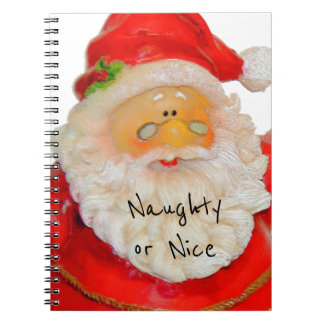 Santa Claus Father Christmas Naughty or Nice List Notebook