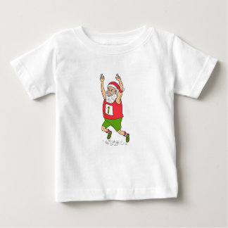 Santa Claus Father Christmas Running Marathon Cart Baby T-Shirt