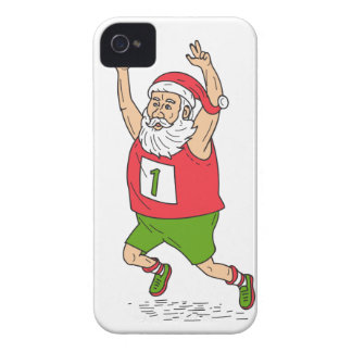 Santa Claus Father Christmas Running Marathon Cart Case-Mate iPhone 4 Case