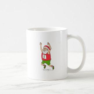 Santa Claus Father Christmas Running Marathon Cart Coffee Mug