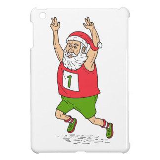 Santa Claus Father Christmas Running Marathon Cart iPad Mini Cover