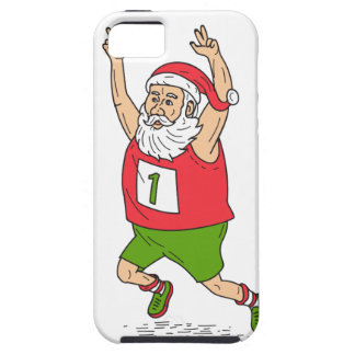 Santa Claus Father Christmas Running Marathon Cart iPhone 5 Cover