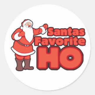 Santa Claus Favorite HO Classic Round Sticker