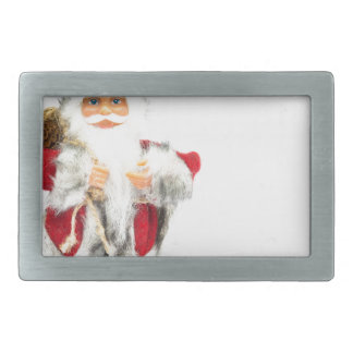 Santa Claus figurine isolated on white background Belt Buckles