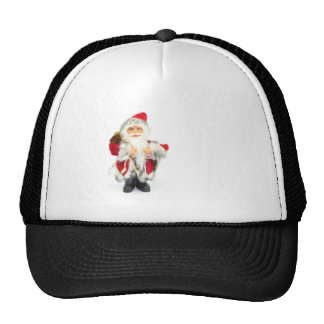 Santa Claus figurine isolated on white background Cap