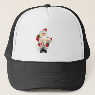 Santa Claus figurine isolated on white background Trucker Hat