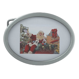 Santa Claus for Christmas Oval Belt Buckle