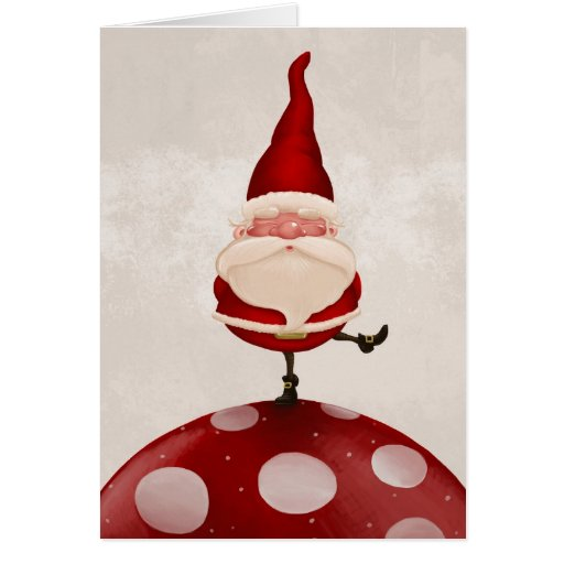 Santa Claus fungus Greeting Cards