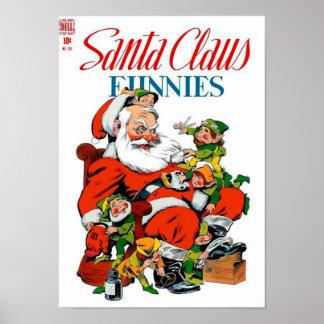 Santa Claus Funnies - Elf Grooming Poster