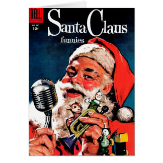 Santa Claus Funnies - On the Radio Card