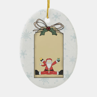 Santa Claus Gift Tag Ornament