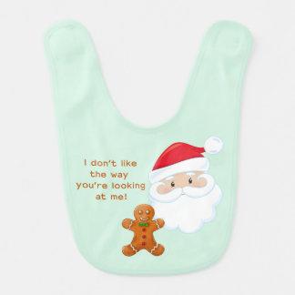 Santa Claus & Gingerbread Boy Bib