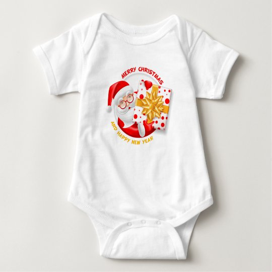 Santa Claus happy new year Baby Bodysuit