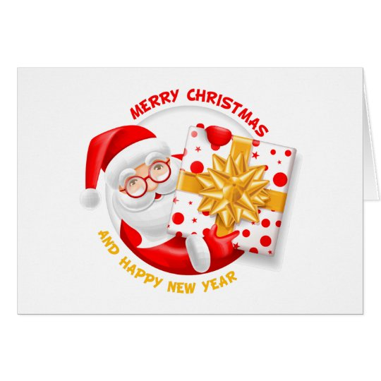 Santa Claus happy new year Card