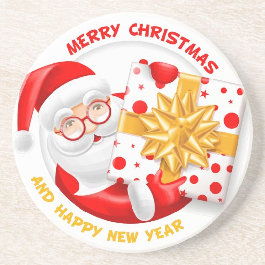 Santa Claus happy new year Coaster