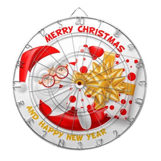 Santa Claus happy new year Dartboard