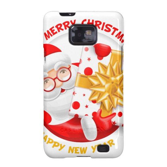 Santa Claus happy new year Galaxy SII Cover