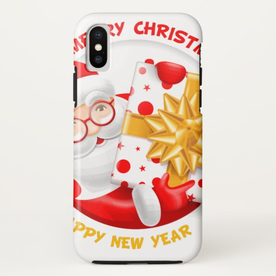 Santa Claus happy new year HTC Vivid Covers