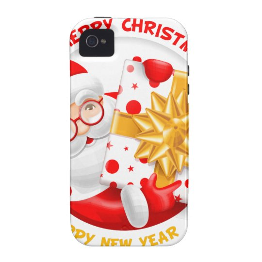 Santa Claus happy new year iPhone 4 Cover
