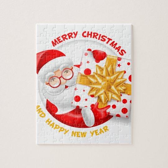 Santa Claus happy new year Jigsaw Puzzle