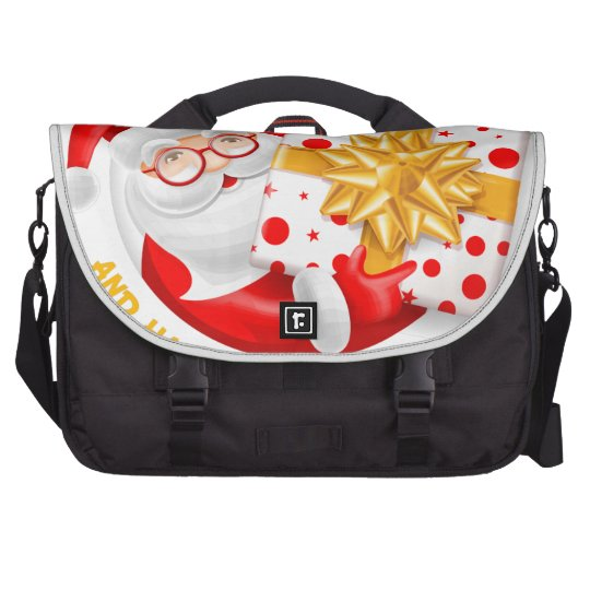 Santa Claus happy new year Laptop Commuter Bag