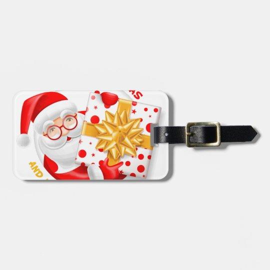 Santa Claus happy new year Luggage Tag