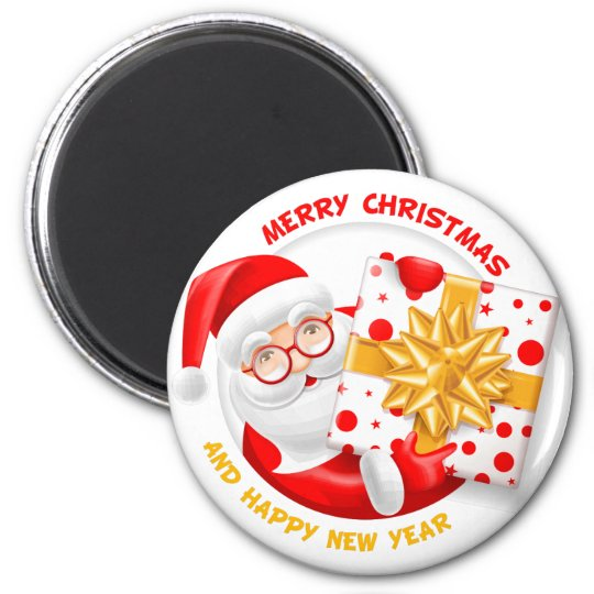 Santa Claus happy new year Magnet