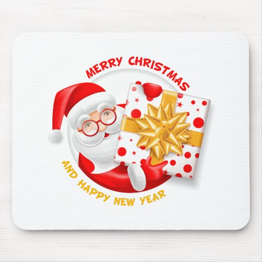 Santa Claus happy new year Mouse Pad