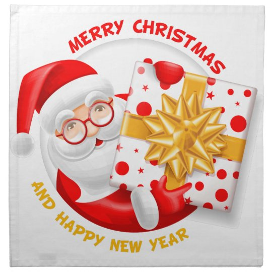 Santa Claus happy new year Napkin