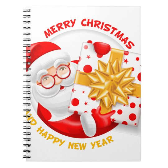Santa Claus happy new year Notebook