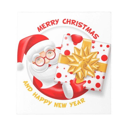 Santa Claus happy new year Notepad