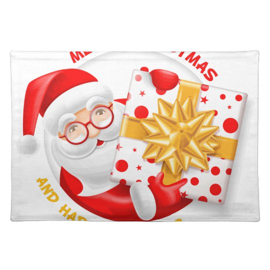 Santa Claus happy new year Placemat