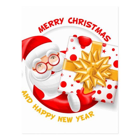 Santa Claus happy new year Postcard
