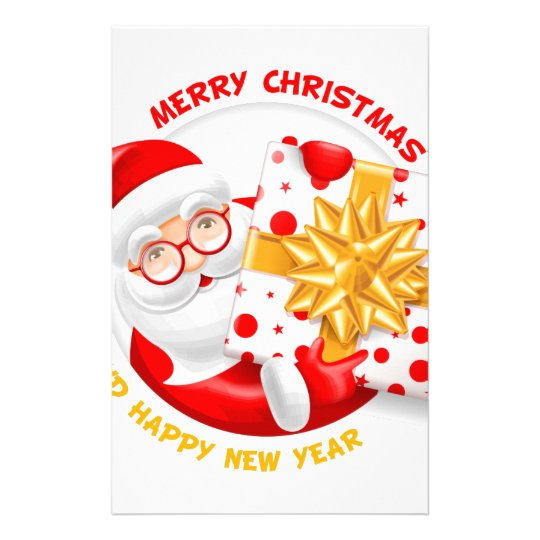 Santa Claus happy new year Stationery