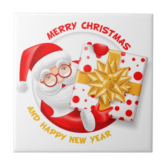 Santa Claus happy new year Tile