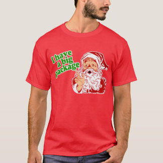 Santa Claus has a big package T-Shirt