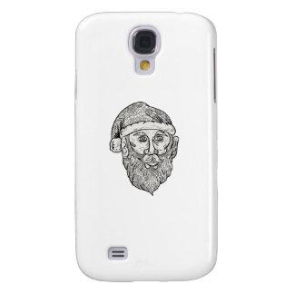 Santa Claus Head Mandala Galaxy S4 Cases