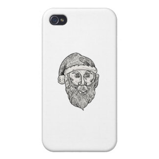 Santa Claus Head Mandala iPhone 4/4S Cover