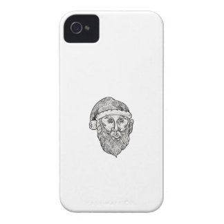 Santa Claus Head Mandala iPhone 4 Cover