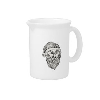 Santa Claus Head Mandala Pitcher