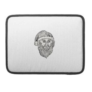 Santa Claus Head Mandala Sleeve For MacBooks