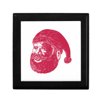 Santa Claus Head Woodcut Gift Box