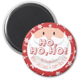 Santa Claus Ho Ho Christmas Happy New Year Holiday 6 Cm Round Magnet