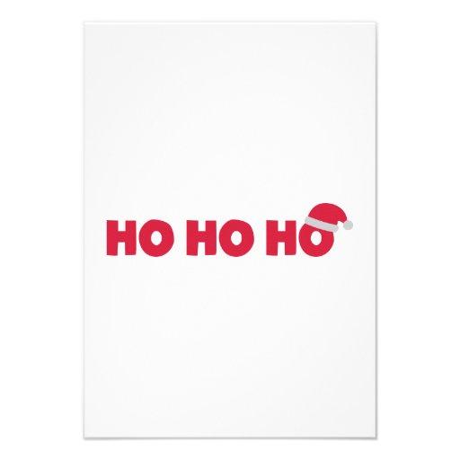 Santa Claus Ho Ho Ho Custom Invitation